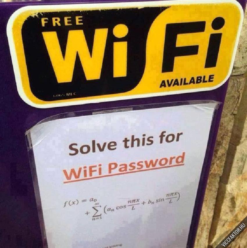 Wifi jelszó