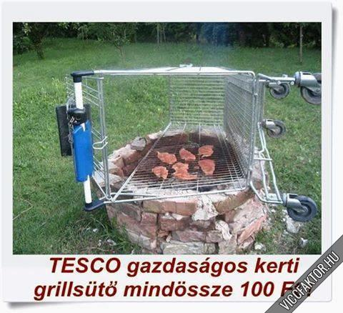 TESCO Gazdaságos kerti grillsütő most csak 100 FT