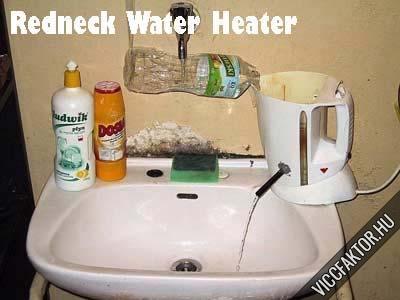 A szegény ember vízmelegítője