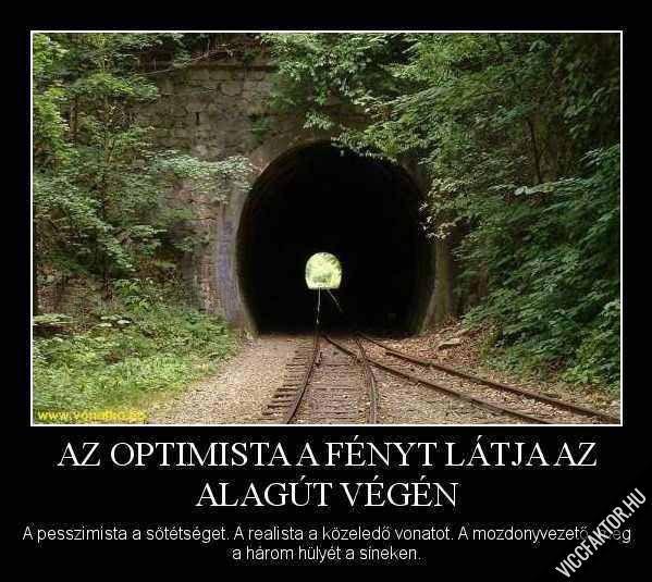 Az optimista, a pesszimista és a realista