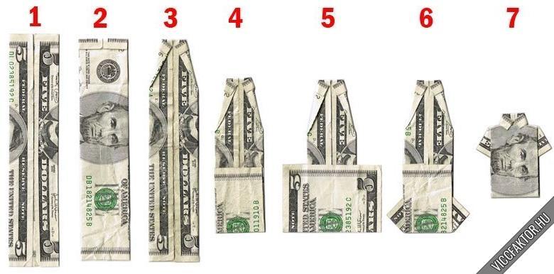 Hajtogassunk pénzből pólót