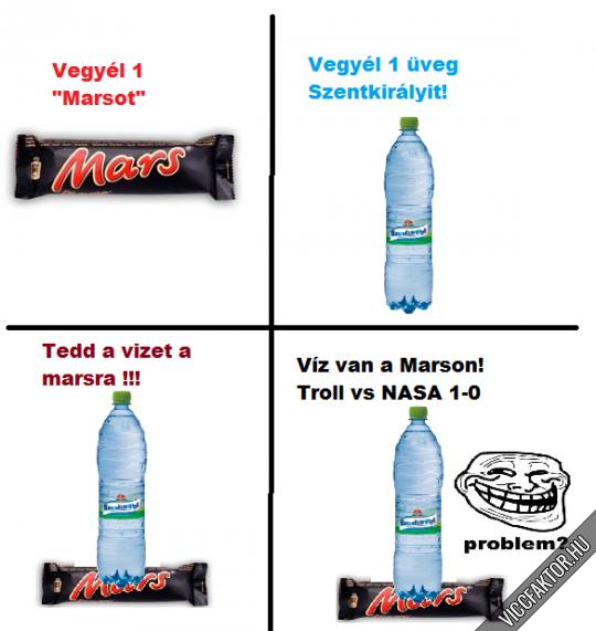 Víz a marson! :)