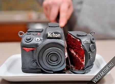 Torta Nikon-os fényképésznek