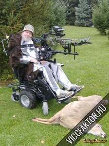 Mozgássérült vadász