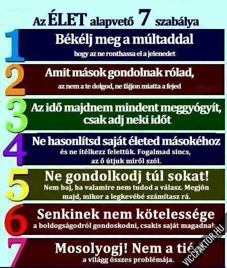 Csak 7 szabály