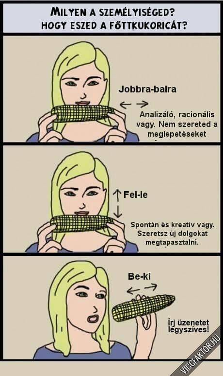 Hogy eszed a kukoricát