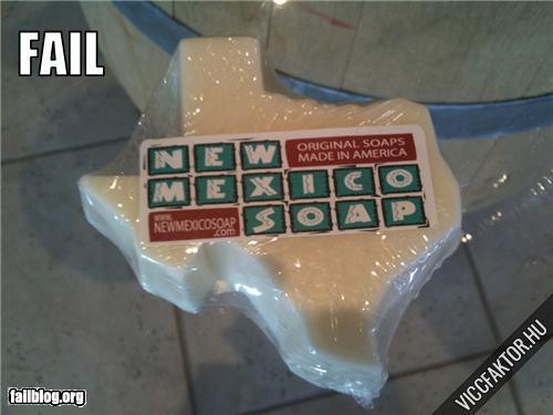 Új-Mexikó alakú szappan
