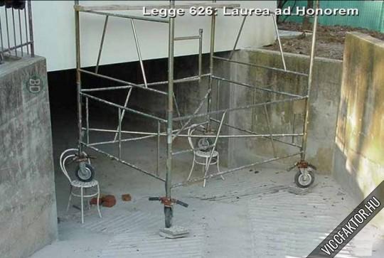 Állvány vízszintezés házilag
