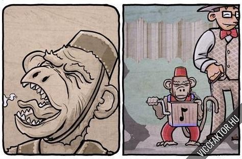 Unatkozó majom #2
