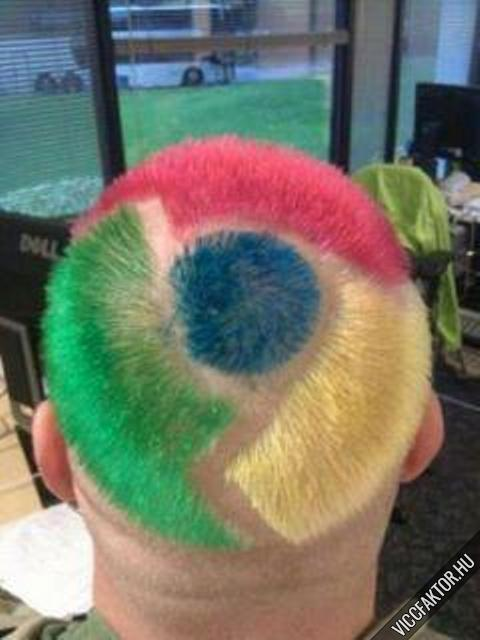 Google Chrome frizura