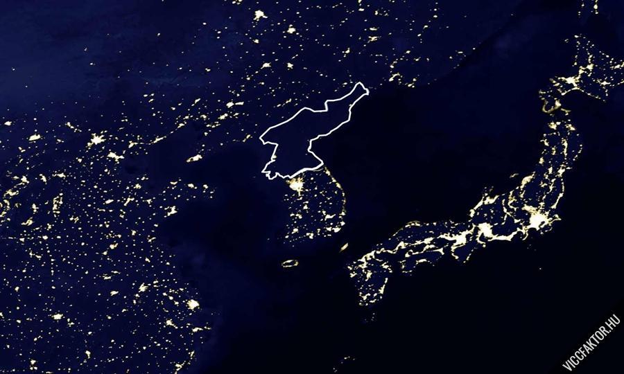 Észak-Kórea az űrból