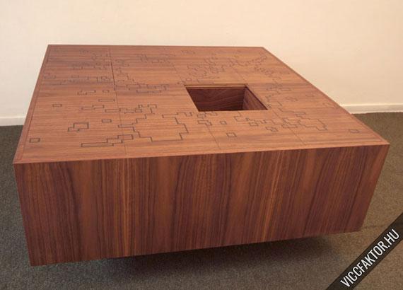 Trükkös kévé asztal