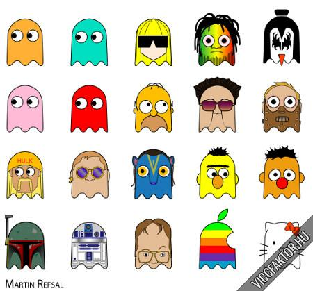 Pac-Man szellem textúra pakk