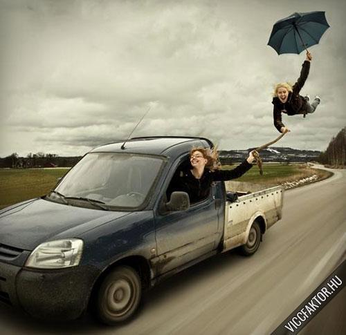 Esernyővel szállni…:)