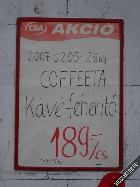 Kávéfehérítő