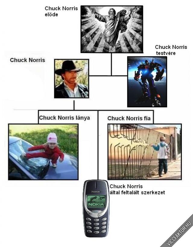 A teljes Chuck Norris családfa